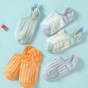 Set of 5 Socks, Pastel Beauty