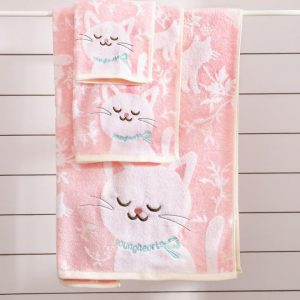 Kitty Towel Pink