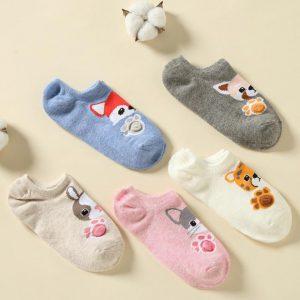 Set of 5 Socks, Animals Together