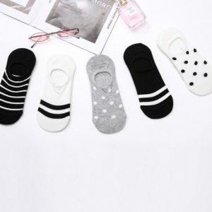 Set of 5 Socks, Polkadot & Stripes