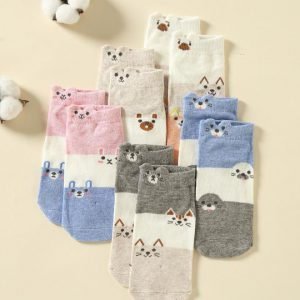 Set of 5 Socks, Sweet Animal