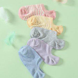 Happy stripe ankle socks
